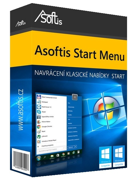 Asoftis Start Menu: nabídka Start z Windows 7 pro Windows 8 a 10